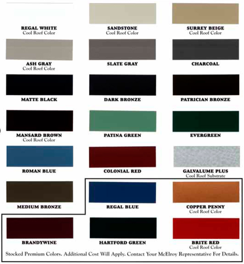 Fabral Color Chart